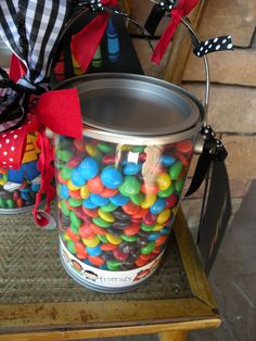 Teacher Appreciation Gifts!                          You may remember the M&M Poem from last year.      I found the small clear paint ...