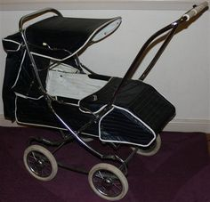 Vintage Steelcraft Pram - I pushed my girls in one like this with a n extra child seat on the front. Not easy getting on the bus with 2 little people and  this hulking great thing