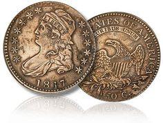 U.S. Silver Half Dollar 1817.