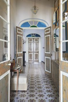 Casa Fanny | Quintana Partners Menorca, European House, Front Entrances, Spanish Style, Boho Decor, Foyer, Tile Floor, Flooring, The Originals