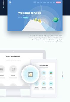 Cesis One Page - Flat Style Concept on Behance