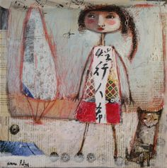 mixed media painting on canvas by Anne Patay