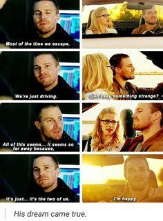 Oliver & Felicity #Arrow #MyNameIsOliverQueen #Olicity