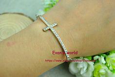 Retro style silvery cross braceletSilvery charm by Evanworld, $1.99
