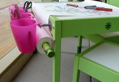 we take a look at 9 different IKEA hacks to help you pimp up the IKEA LATT children's table and chair set.Here we take a look at 9 different IKEA hacks to help you pimp up the IKEA LATT children's table and chair set.