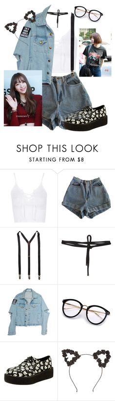 """""""Hani!"""" by pieeella ❤ liked on Polyvore featuring Topshop, American Apparel, Scotch & Soda and Beaufille"""