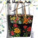 Le Romy, Cabas en canevas du ShoP de MoZ, collection artisanale de sacs en tapisserie vintage