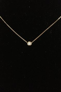 Gold and Diamond Necklace w/ Diamond Back Hanger #gold#diamond#necklace