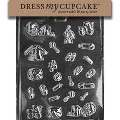 Dress My Cupcake Chocolate Candy Mold Tiny Baby Assortment Baby Shower ** Check out this great product.