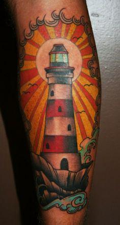 Lighthouse tattoo by Kasper #traditionaltattoo #allstartattoo