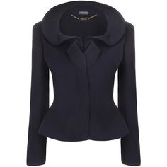 Alexander McQueen Wave Ruffle Collar Jacket found on Polyvore