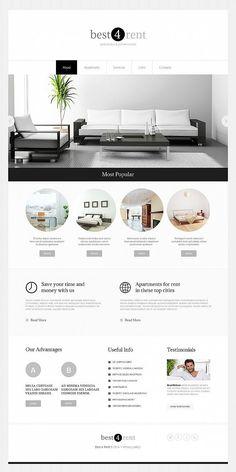 Minimal Website Design for Real Estate Agency - image Website Design Inspiration, Best Website Design, Minimal Website Design, Real Estate Website Design, Site Web Design, Website Design Layout, Web Design Company, Layout Design, Hotel Website Design