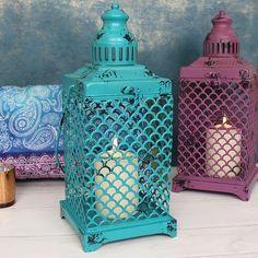 Small turquoise Indian Ocean Lantern (1)