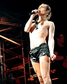One of my first concerts ever:  Adam Ant at the Des Moines Civic Center, 1983 -- the Strip Tour, where he wore these little swim shorts in a big water tank and emerged dripping wet