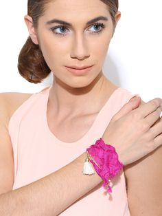 Buy Parfois Pink Fabric Matinee Necklace -  - Accessories for Women from Parfois at Rs. 354