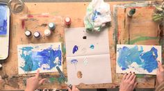 Acrylic Painting Workshop: Colorful Art Journal Backgrounds
