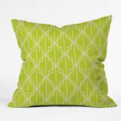 Mary Beth Freet Trellice Outdoor Throw Pillow | DENY Designs Home Accessories #green #yellow #unique #gift #home #decor