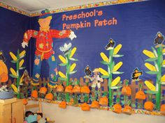 The pumpkin patch starts before Halloween, then continue into November with harvest crafts