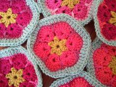 African flowers - crochet