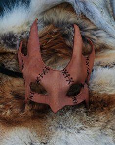 Patchwork Drake Leather Mask por EpicLeather en Etsy