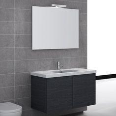 $1925 Space Iotti Vanity Set SE04 Vanity Set With Mirror, Wall Mounted Vanity, Single Sink Bathroom Vanity, Vanity Sink, Bathroom Vanities, Sloped Ceiling Bathroom, Decor Interior Design, Interior Decorating, Modern Bathroom Light Fixtures