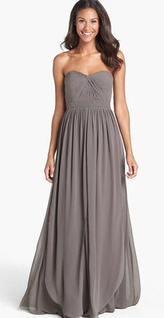 Gorgeous grey dress by Jenny Yoo http://www.theperfectpaletteshop.com/#!bridesmaid-dresses/c1oc8