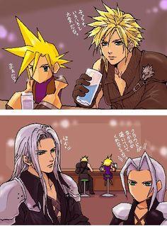 Cloud Strife and Sephiroth. Fan art. Final Fantasy VII. Final Fantasy VII: Advent Children.