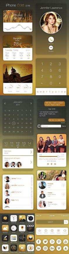 iPhone Gold PSD Ui Kit