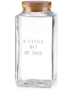 """kate spade new york all in good taste """"A Little Bit of This"""" Canister 