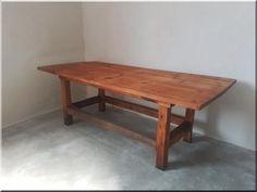 Nagy méretű konyhaasztal - Antik bútor, egyedi natúr fa és l Natural Wood Furniture, Fa, Industrial Loft, Country Chic, Shabby Chic, Dining Table, Vintage, Home Decor, Decoration Home