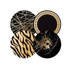 12 gorgeous coasters delivered in a sleek black and gold box. Dandy's coasters are designed and manufactured in Sweden, of Swedish paper from Lessebo Bruk.