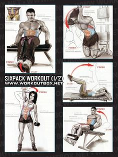 Sixpack Workout Part 2 - Healthy Fitness Exercises Gym Low Abs - Yeah We Train !