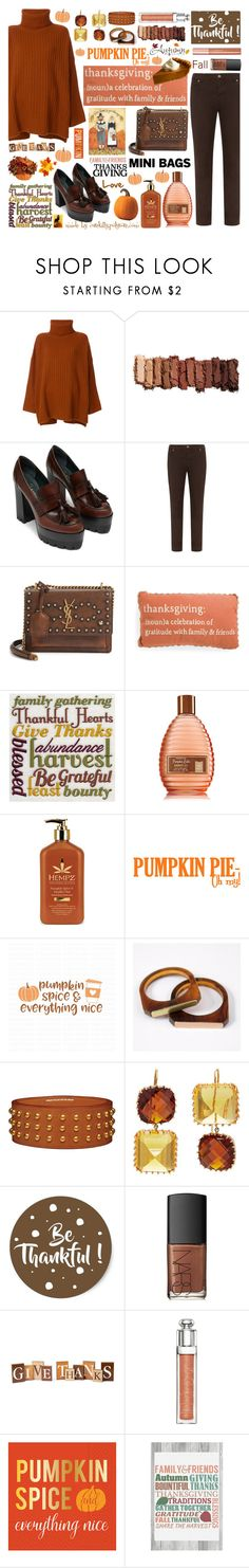 """Thanksgiving: A Celebration of Gratitude with Family and Friends!"" by curekitty ❤ liked on Polyvore featuring Joseph, Urban Decay, Silver Jeans Co., Yves Saint Laurent, Cricut, Holly's House, Renee Lewis, NARS Cosmetics, Christian Dior and Design Design"