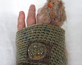 Arm Warmers Fingerless Gloves with beads embroidery Mittens Armwarmers  Warm Hippie Boho Romantic Bohemian