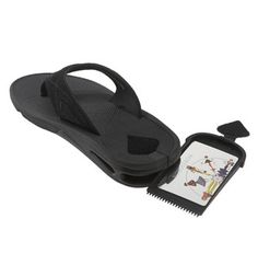 "If you are tired of losing your hotel room key while out and about in Ormond Beach, why not invest in these sandals that double as a safe place to store small items, out of sight but always ""under foot""!"