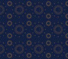 Celestial Zodiac Symbols - Gold/Navy fabric by elliottdesignfactory on Spoonflower - custom fabric   #fabric #textile #design #wallpaper #giftwrap #spoonflower #spoonflower.com #textiledesign #fabricdesign #sun #moon #constellation #celestial #zodiac #eyeofhorus #symbols #wicca #ankh #egypt #egyptology #chart #elements #elementschart #voodoo #kewpie #kewpiedoll #retro #kitsch #rockbilly #mineral #crystal #newage #alchemy #goth #grunge #gold #blackandwhite