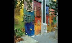 Exterior Walls, Santana Row, San Jose, California, Maestri #SEGD