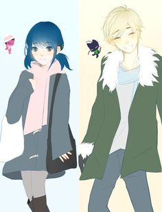 Look a these two cuties! (Miraculous Ladybug, Marinette, Adrien)