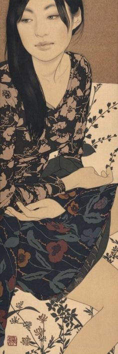 Ilenaga Yasunari • This ancient technique of Nihonga is a traditional Japanese…