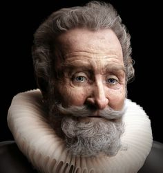 Superb animation presents the facial reconstruction of King Henry IV of France, also known as 'Good King Henry' (le bon roi Henri). Culture Club, Dundee, Forensic Facial Reconstruction, Famous Historical Figures, Old King, King King, Henri, Portraits, World History