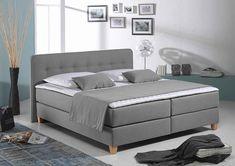 Home affaire Boxspringbett »Fargo XXL«, in Überlänge 220 cm, mit Topper, 3 Ausführungen, 4, Breiten online kaufen | OTTO
