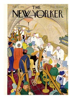 The New Yorker Cover - February 22, 1941 Premium Giclee Print by Alain at Art.com