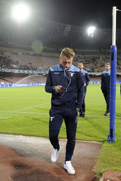 Ciro Immobile of SS Lazio before  the Serie A match between SSC Napoli and SS Lazio at Stadio San Paolo on November 5, 2016 in Naples, Italy.