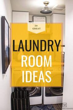 Laundry Decor, Laundry Room Storage, Basement Remodel Diy, Basement Remodeling, Modern Laundry Rooms, Decorative Storage, Storage Ideas, Room Ideas, Room Decor