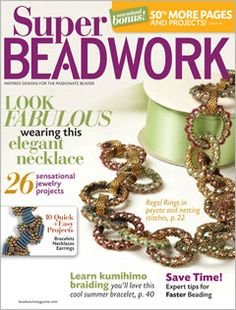 I couldn't remember where this pattern was- glad to see this --Beadwork June July 2011 Diy Jewelry, Beaded Jewelry, Handmade Jewelry, Jewelry Making, Beaded Necklace, Jewellery, Jewelry Patterns, Bracelet Patterns, Beading Patterns