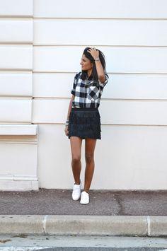 17 meilleures images du tableau Chemise carreaux   Feminine fashion ... c63ed654b683
