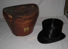 Antique 1900's Beaver Top Hat in Original Leather Case Paulson Bros | eBay