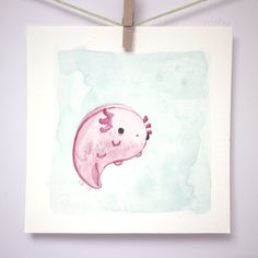 small axolotl painting / móhu