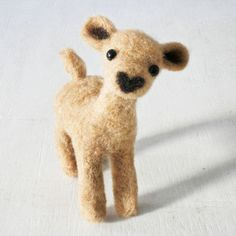 Little felted fawn. Unfortunately she, obviously, sold, but the maker has some other adorable felted critters and creations