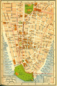 New York City Map 1916 #ThrowbackThursday #NYC #vintage #Manhattan